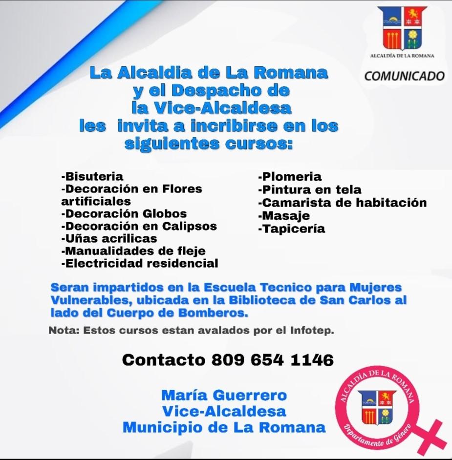 Alcaldía de La Romana apertura cursos centro de Madres en Condiciones Vulnerables